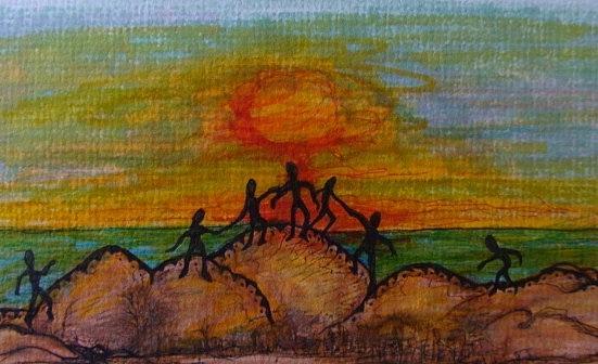 Worship Drawing by Gerri Rowan