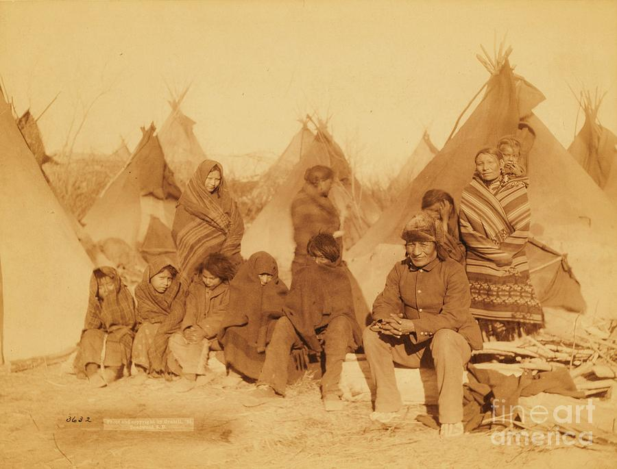 Pd:  Reproduction Photograph - Wounded Knee Survivors by Pg Reproductions