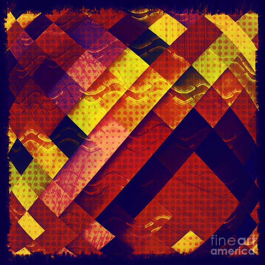 Woven Texture Digital Art - Woven Waves by Ankeeta Bansal