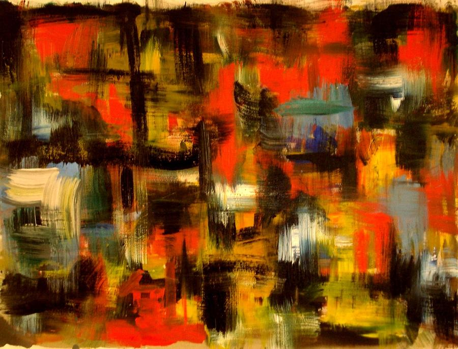 Abstract Painting - Wrath by Carlos Roberto