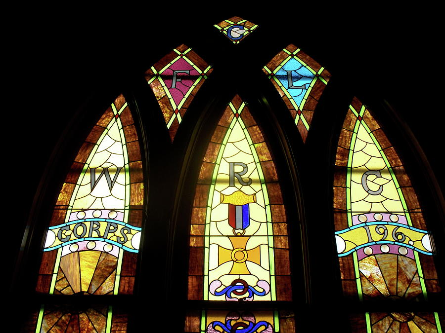 Stained Glass Photograph - Wrc Stained Glass Window by Thomas Woolworth