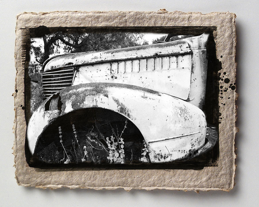 Framed Pyrography - Wreck 2 by Mauro Celotti