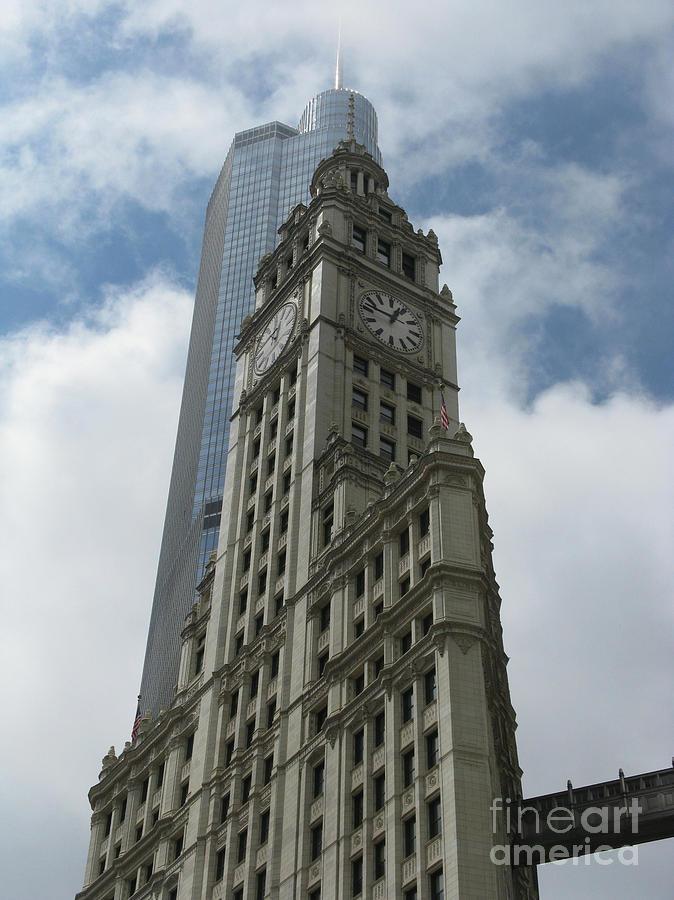 Clock Tower Photograph - Wrigley Building by Arlene Carmel