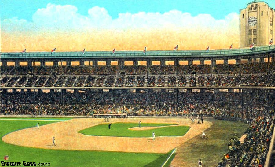 Wrigley Field Painting - Wrigley Field In Los Angeles Ca In 1937 by Dwight Goss