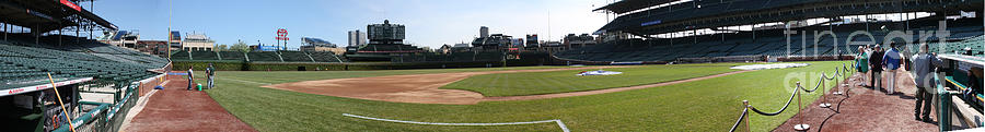 Wrigley Field Photograph - Wrigley Field Panorama by David Bearden