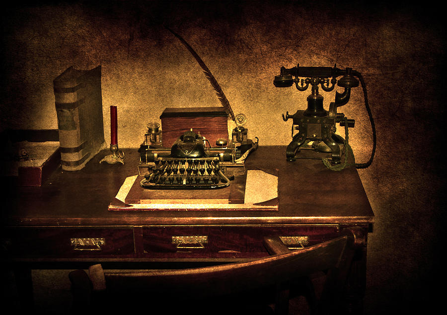 Alphabet Photograph - Writers Desk by Svetlana Sewell