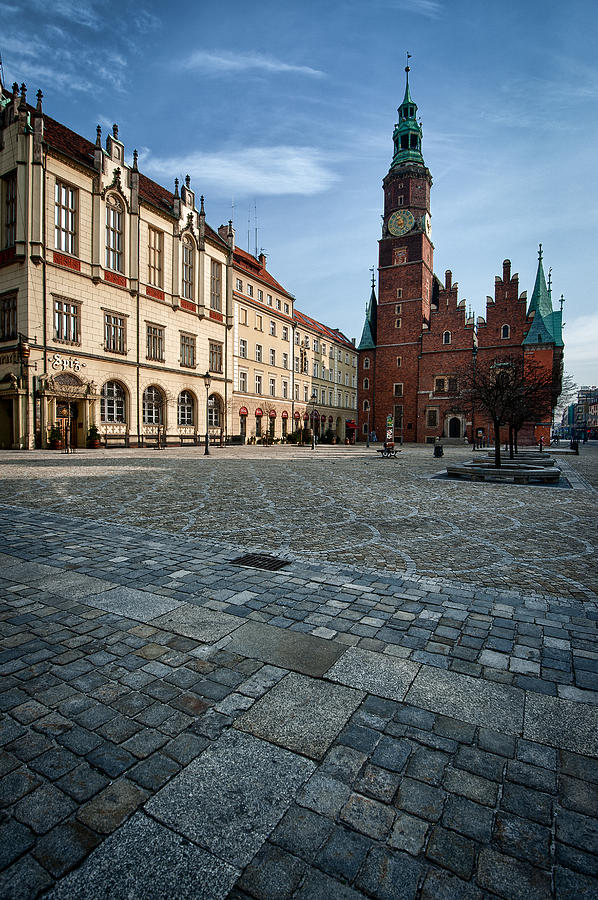 Old Town Photograph - Wroclaw Town Hall by Sebastian Musial