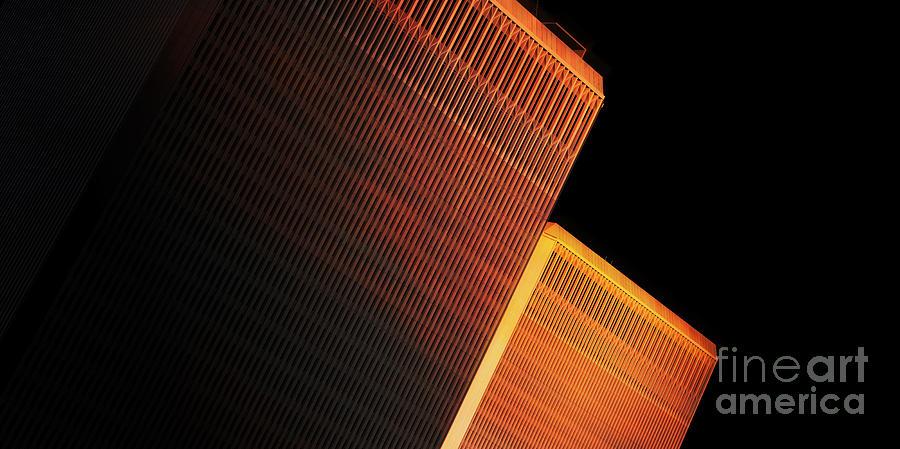 Twc Digital Art - Wtc Sunset 4 by Boris Est
