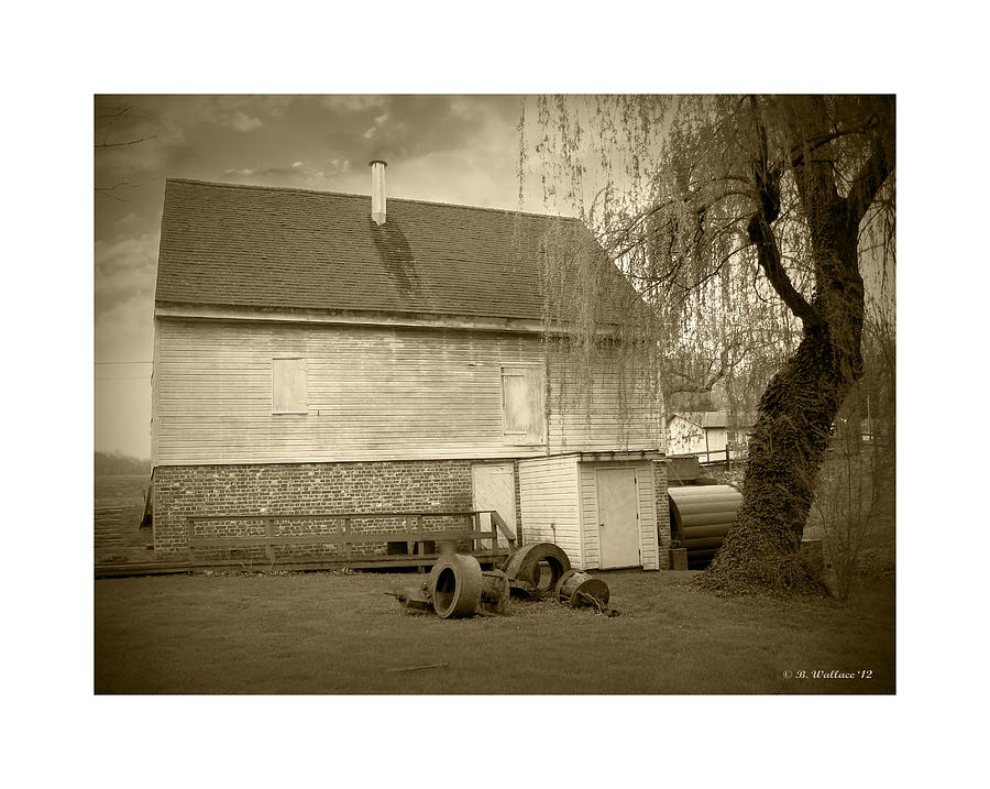 2d Photograph - Wye Mill - Sepia by Brian Wallace