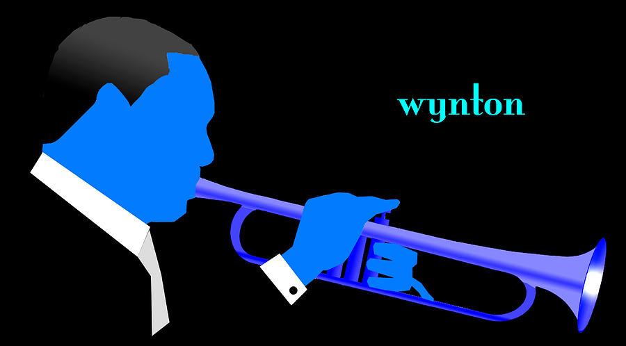 Jazz Digital Art - Wynton Marsalis Blue by Victor Bailey