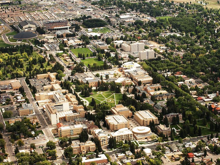 Laramie Photograph - Wyoming Campus Aerial by University of Wyoming