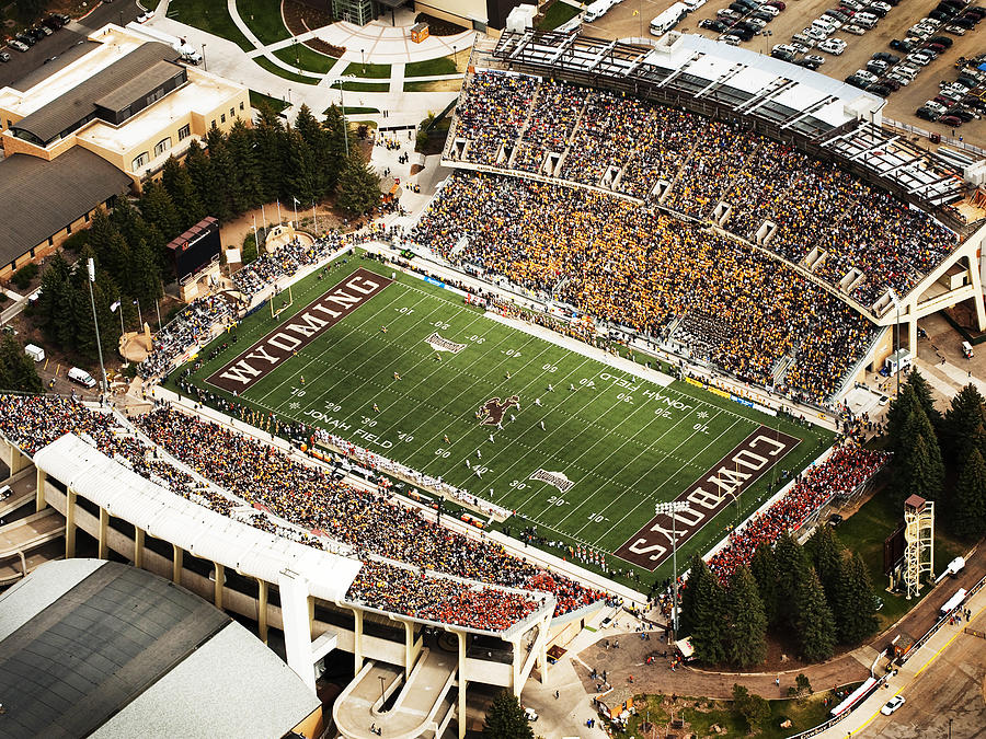 War Photograph - Wyoming War Memorial Stadium by University of Wyoming
