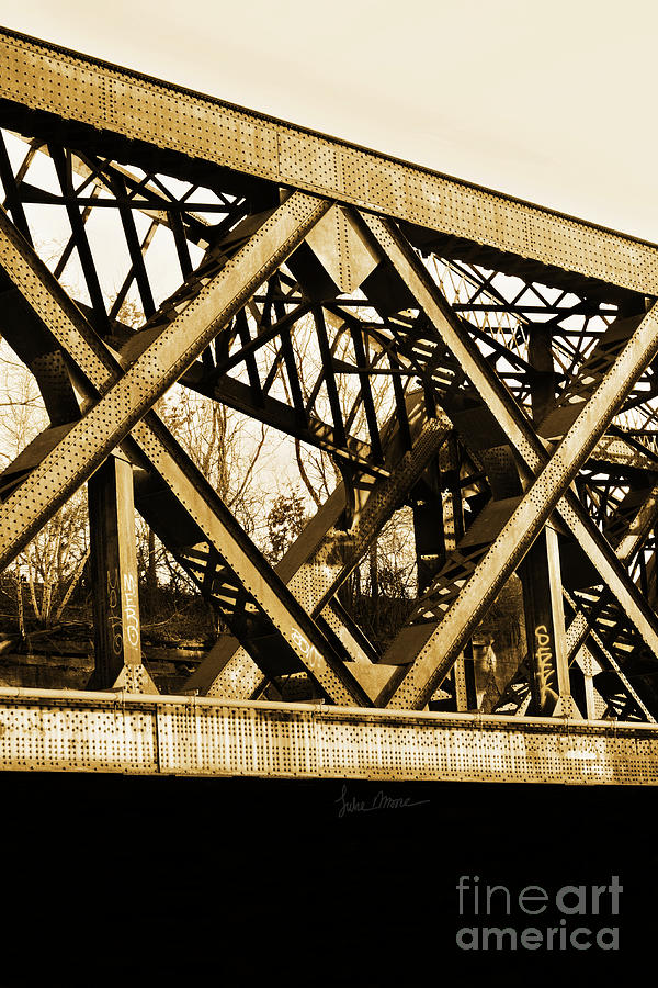 Train Photograph - X-ing by Luke Moore