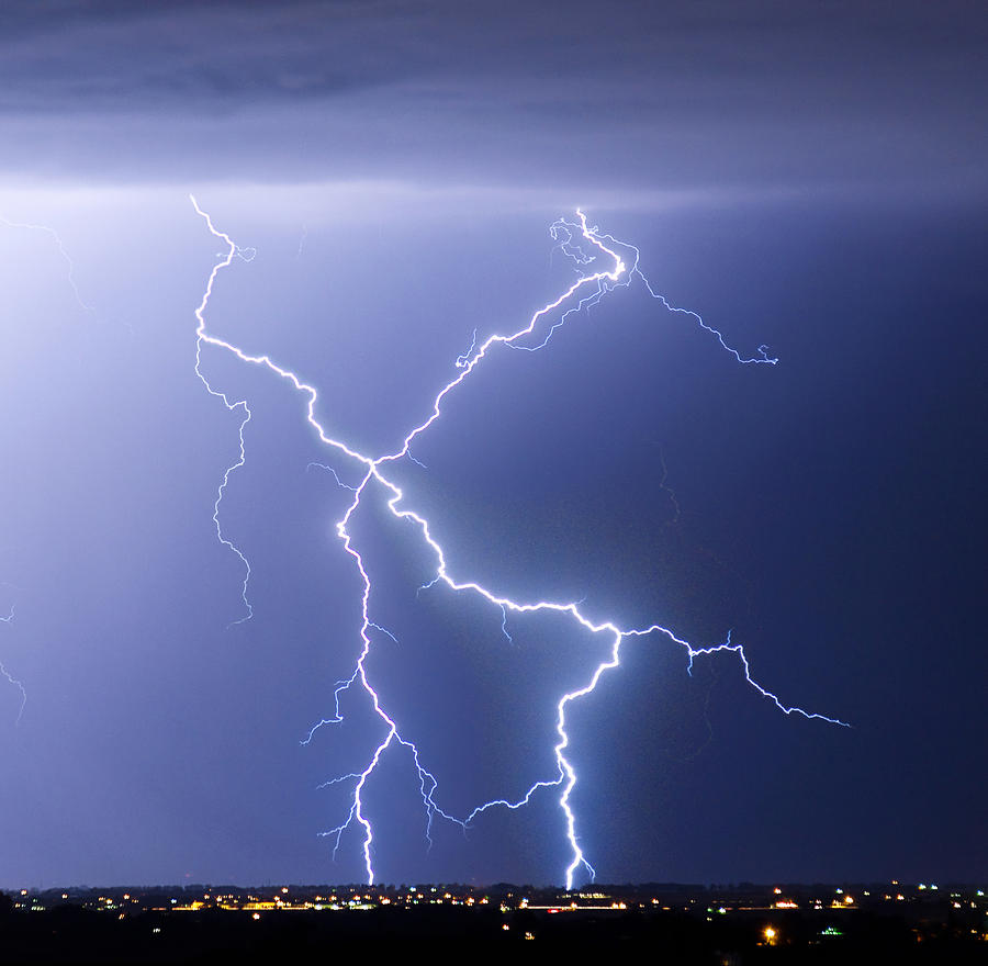 X Lightning Bolt In The Sky Photograph By James Bo Insogna