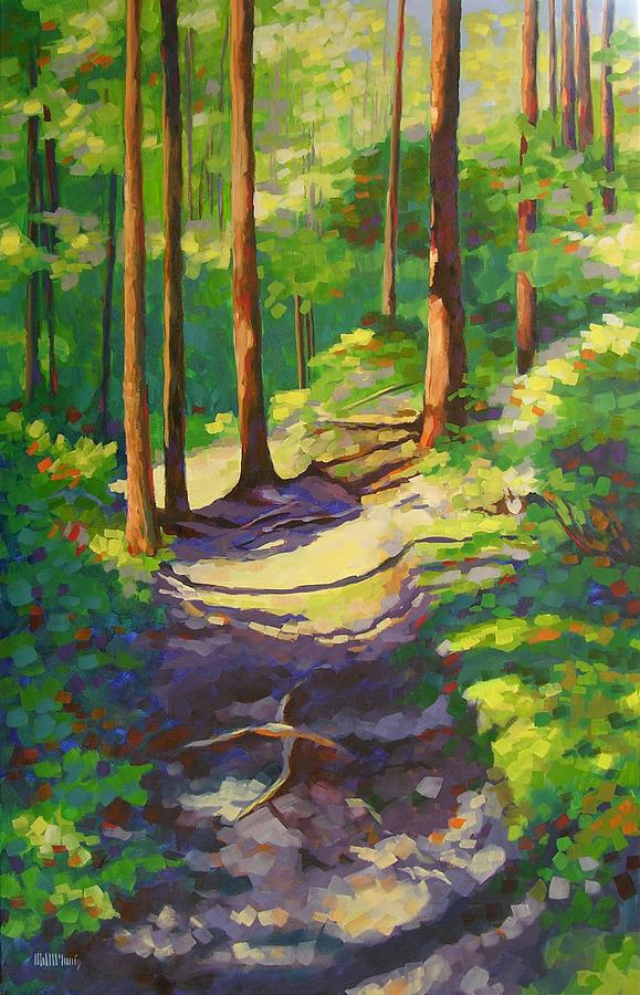 Landscape Painting - X Marks The Spot by Mary McInnis