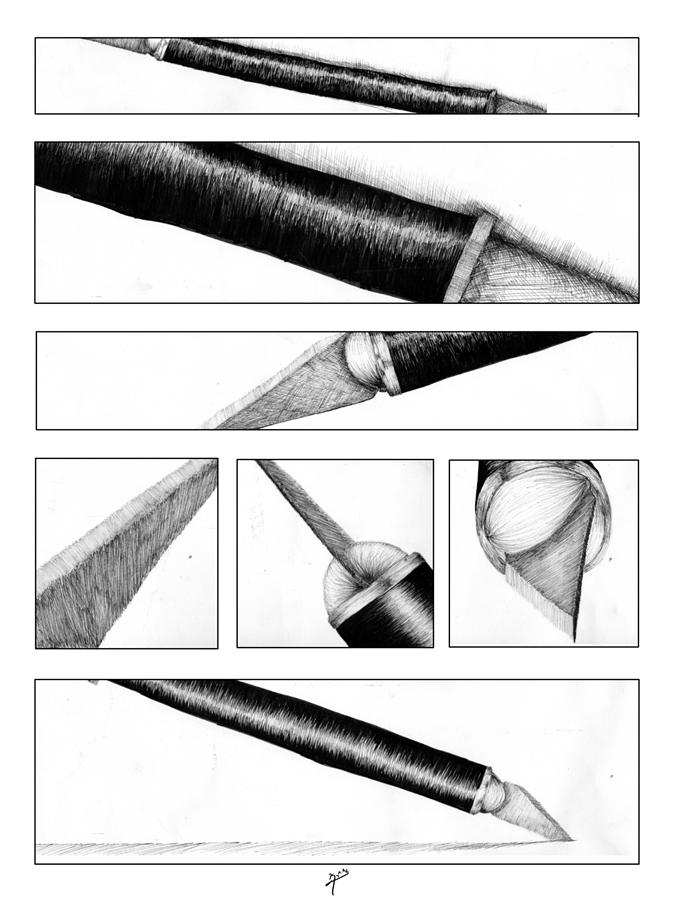 Traditional Drawing - Xacto Knife by Kenya Thompson