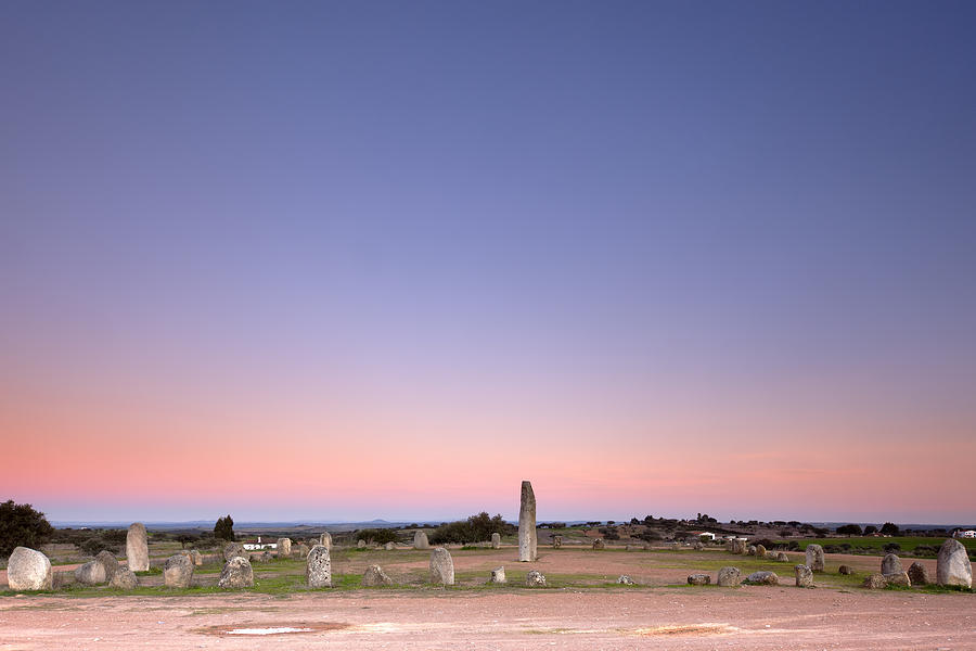 Dark Photograph - Xarez Cromlech Uring The Sunset by Andre Goncalves