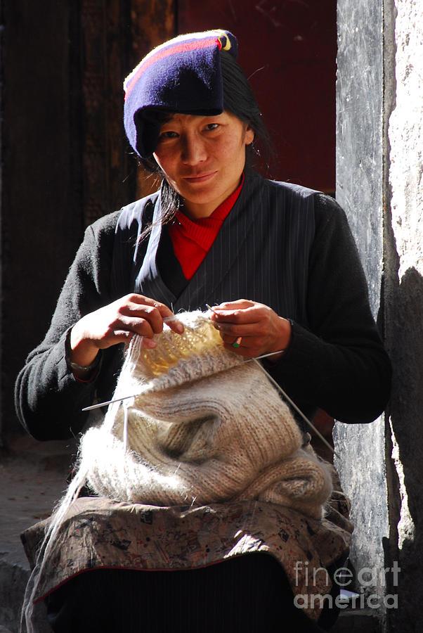 Tibet Photograph - Yak Wool Sweater Weaver by Marko Moudrak