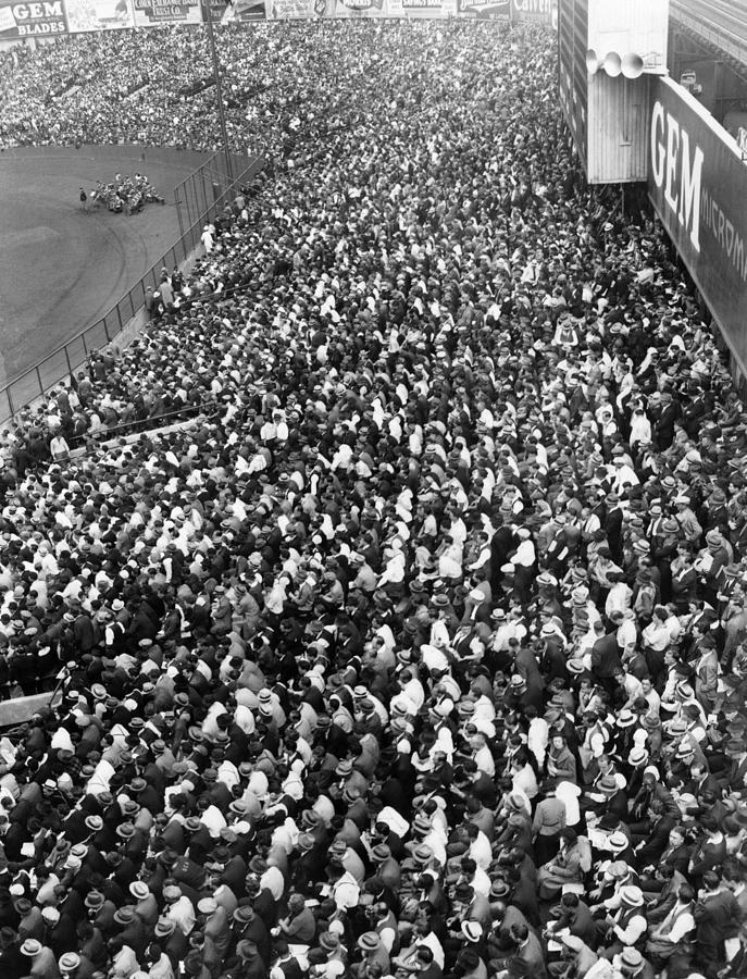 1930s Candid Photograph - Yankee Stadium Bleachers, New York by Everett