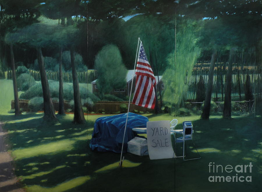 Flag Painting - Yard Sale by Stephen Remick