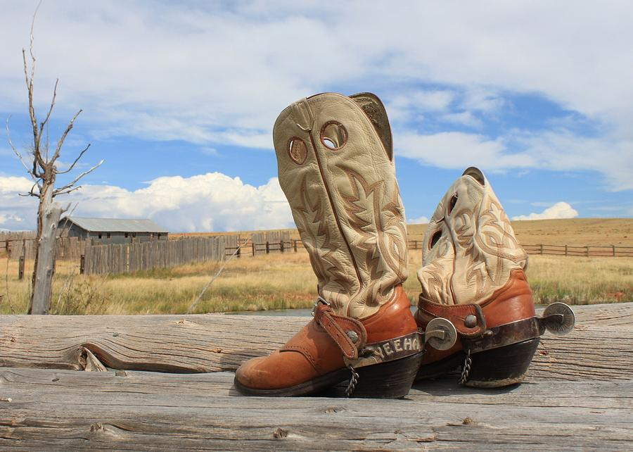 Boots Photograph - Yeeha Boots by Debra Mickelson