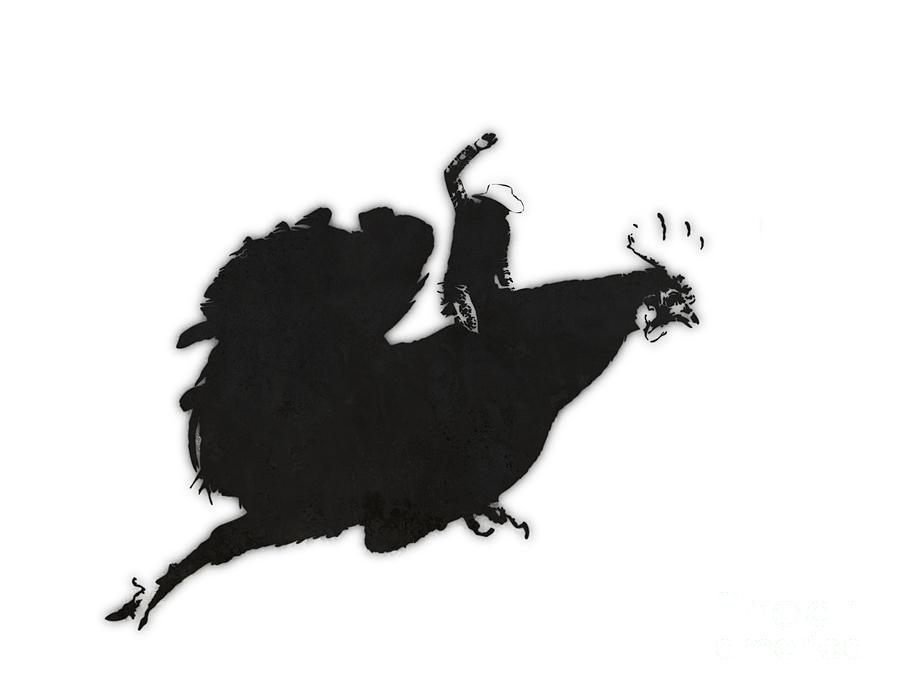 Banksy Digital Art - Yeehaaa by Pixel Chimp