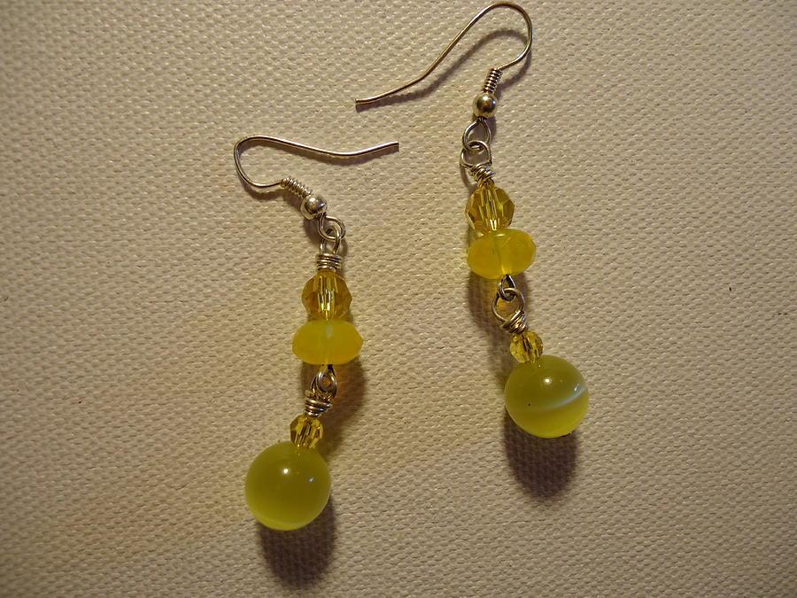 Yellow Earrings Photograph - Yellow Ball Drop Earrings by Jenna Green