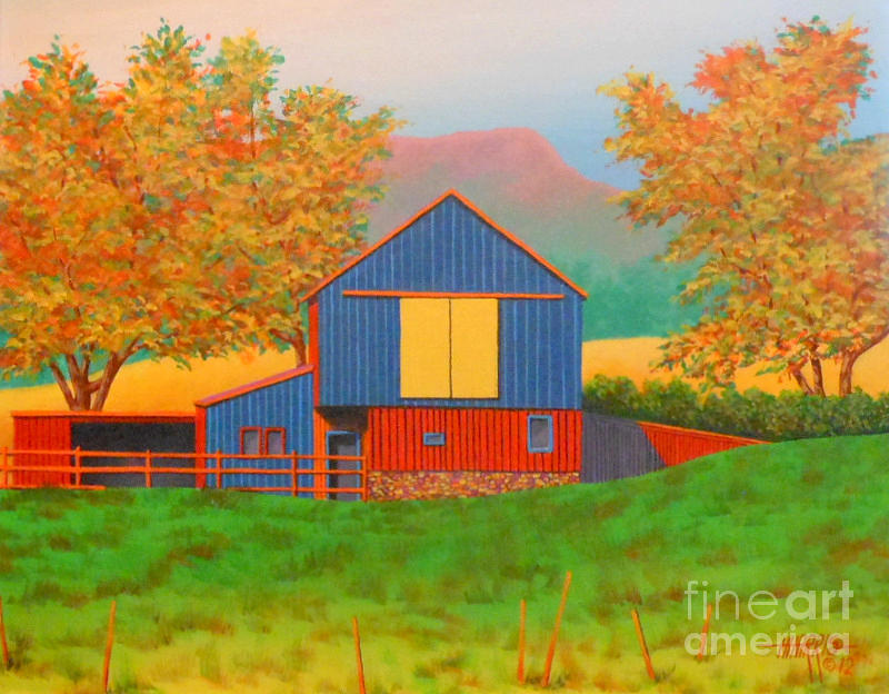 Yellow Barn Door Painting By Hugh Harris
