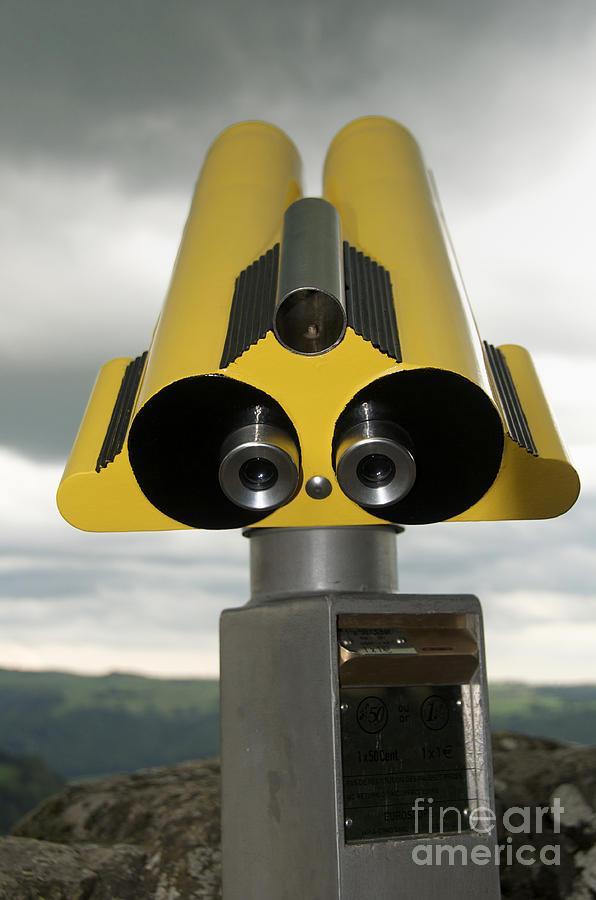Sky Photograph - Yellow Binoculars by Bernard Jaubert
