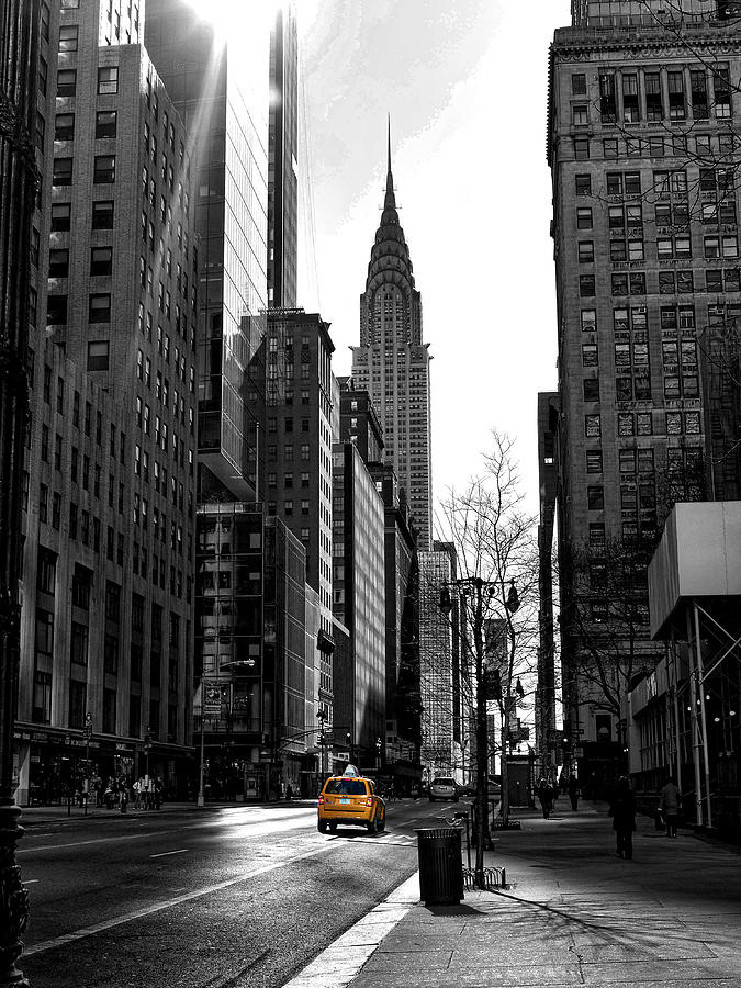Hdr Photograph - Yellow Cab by Bennie Reynolds