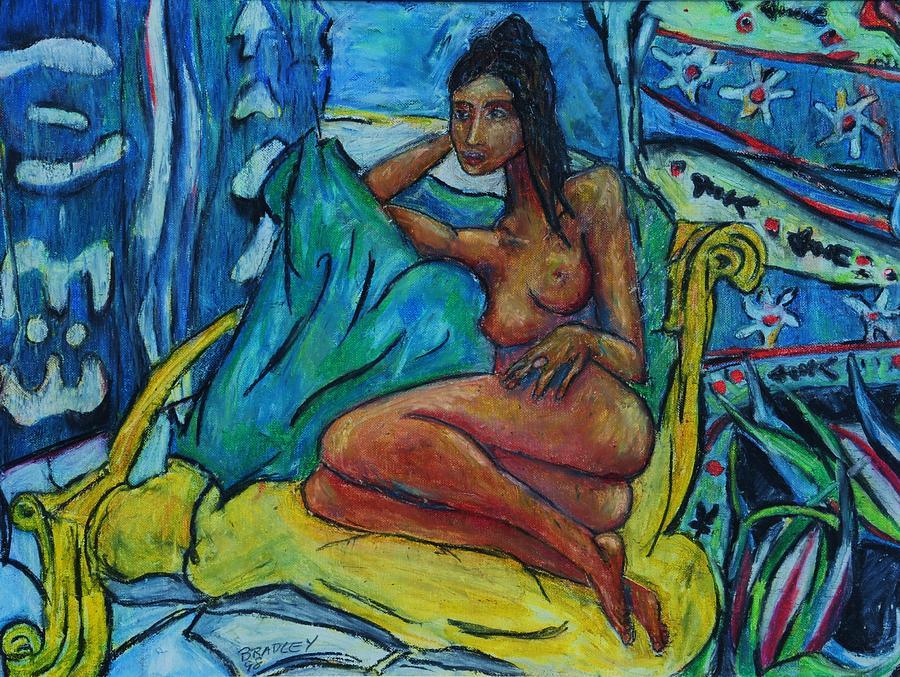 Costa Rica Painting - Yellow Chair 98 by Bradley Bishko