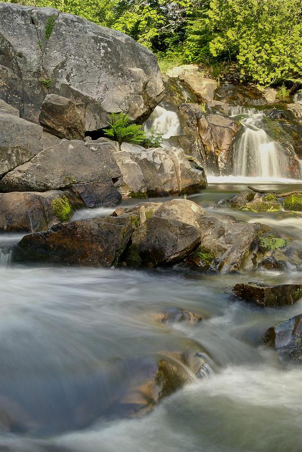 Landscape Photograph - Yellow Dog Falls 4246 by Michael Peychich