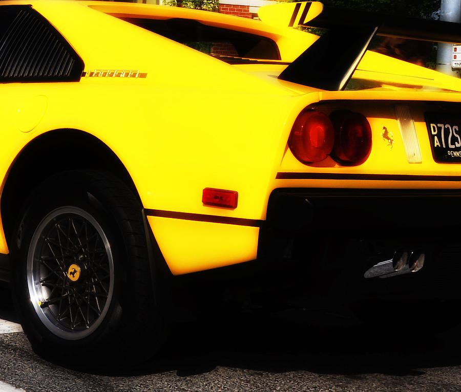 Yellow Photograph - Yellow Ferrari by Bill Cannon