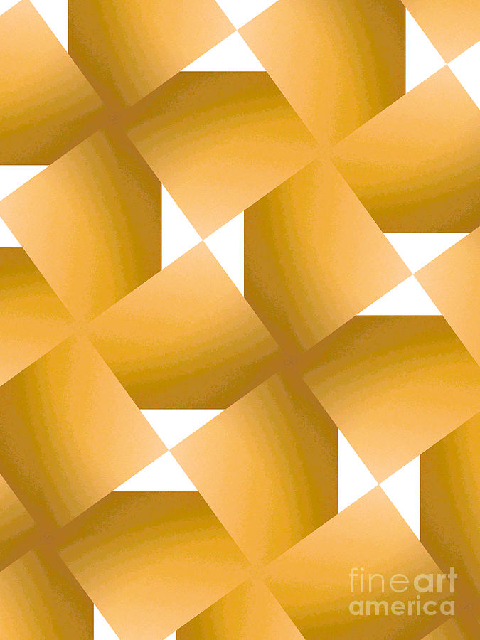 Geometric Painting - Yellow Fever by J Burns