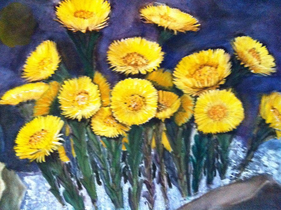 Flower Painting - Yellow Flower by Giti Ala