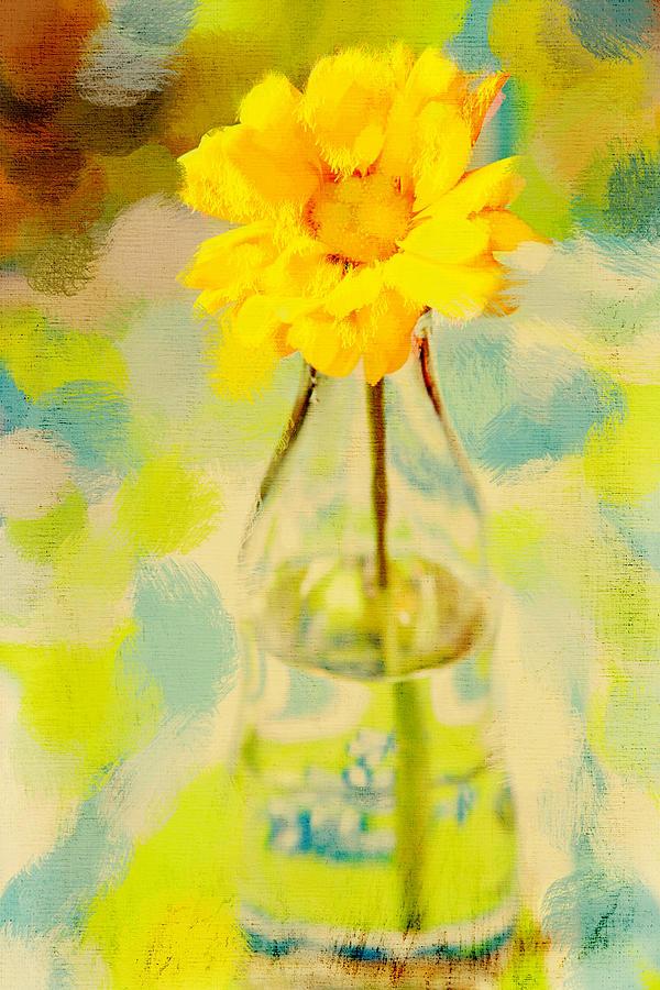 Flower Photograph - Yellow Flower by Toni Hopper