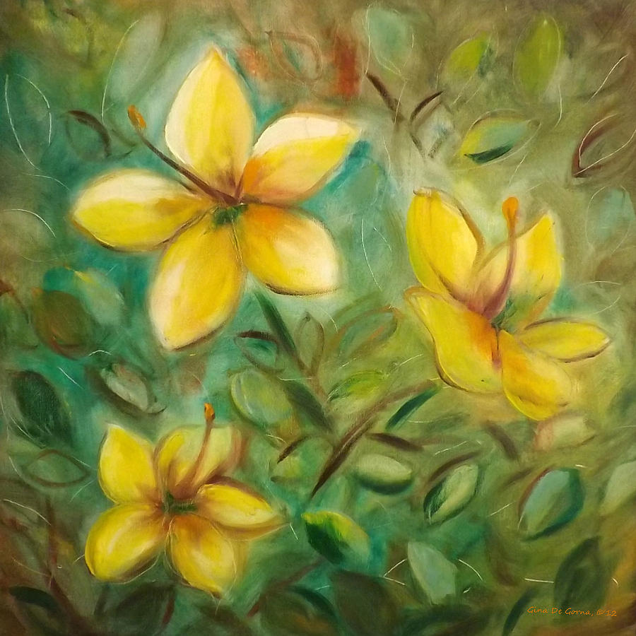 Yellow flowers painting by gina de gorna flower painting yellow flowers by gina de gorna mightylinksfo