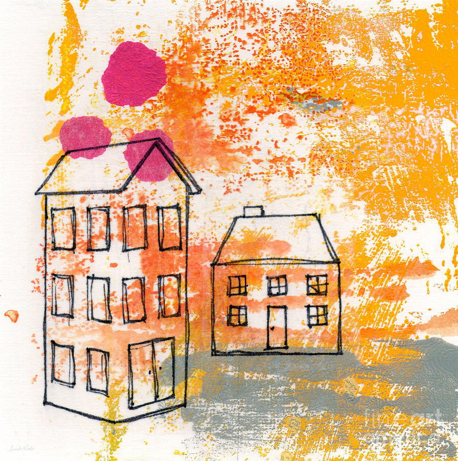 Yellow House Painting