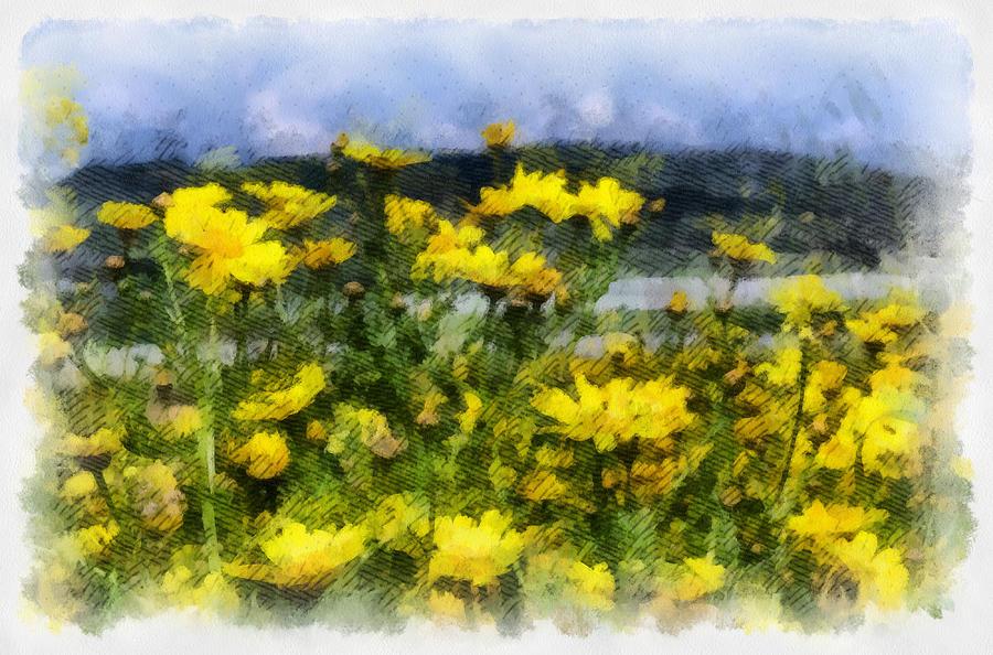 Landscape Photograph - Yellow landscape by Michael Goyberg