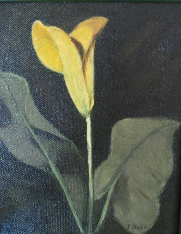 Yellow Lily Painting - Yellow Lily by Iris Nazario Dziadul
