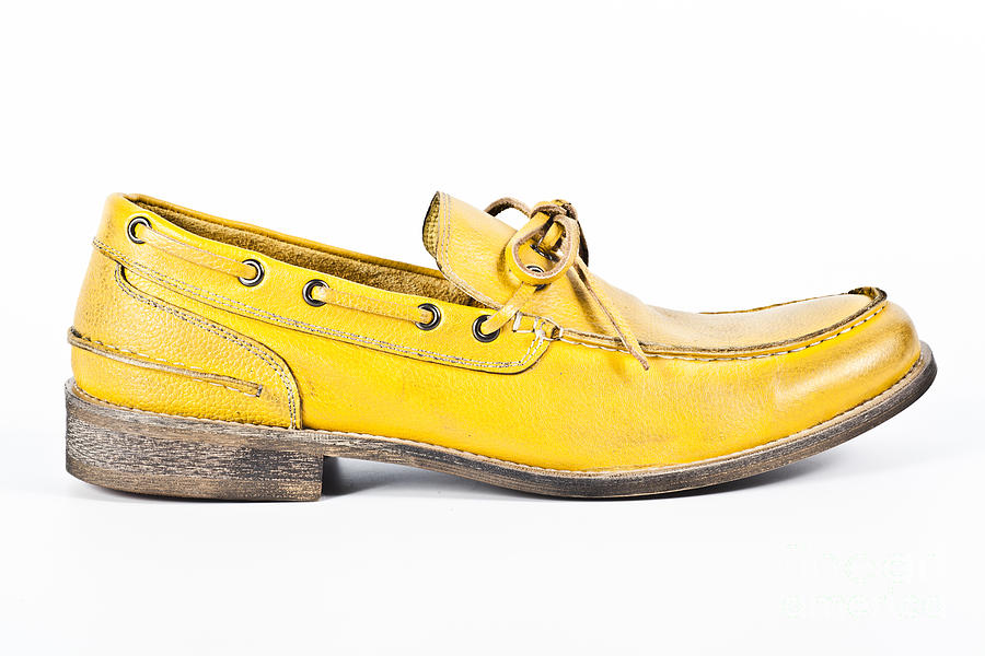 Accessory Photograph - yellow Mens shoe by Chavalit Kamolthamanon
