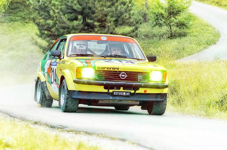 Car Photograph - Yellow Opel by Alain De Maximy