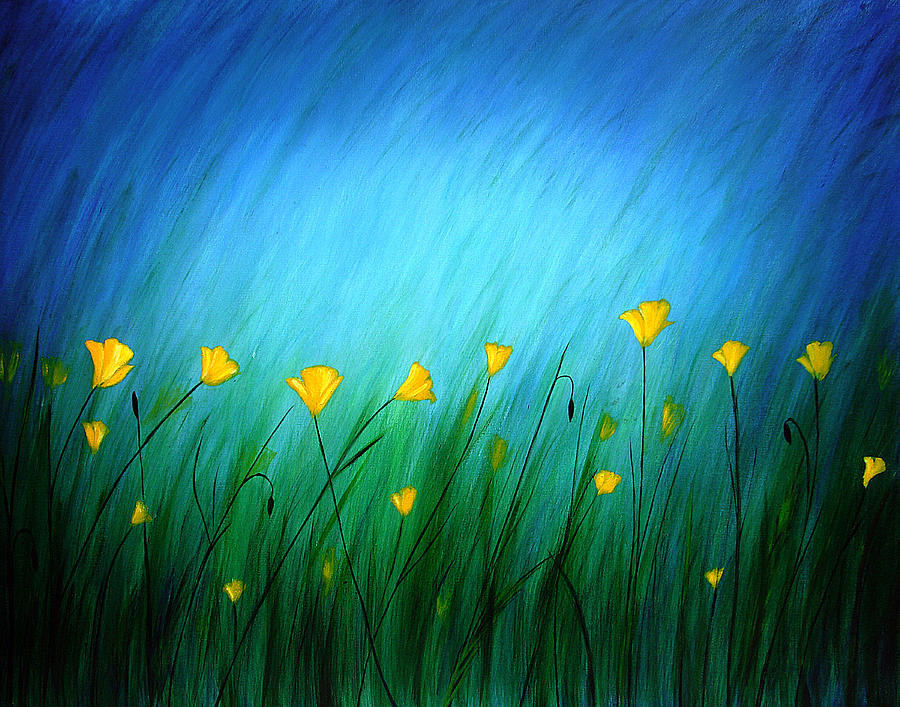 Dreamy Painting - Yellow Poppies by Color Blast