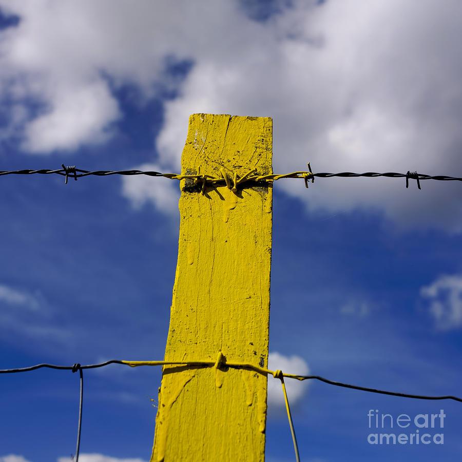 Outdoors Photograph - Yellow Post by Bernard Jaubert