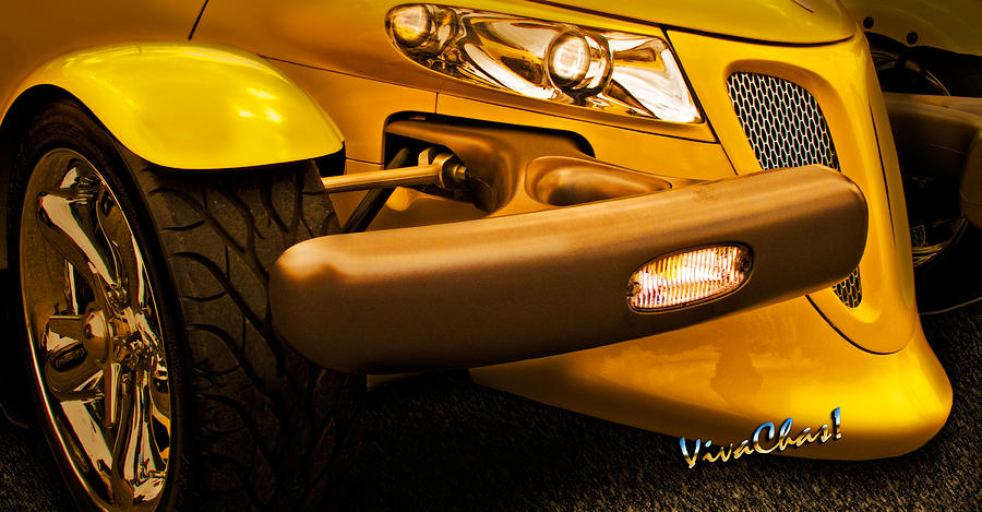 Automobile Photograph - Yellow Prowler Detail by Chas Sinklier