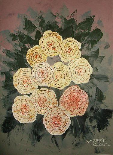 Roses Painting - Yellow Roses II by Anne-Elizabeth Whiteway