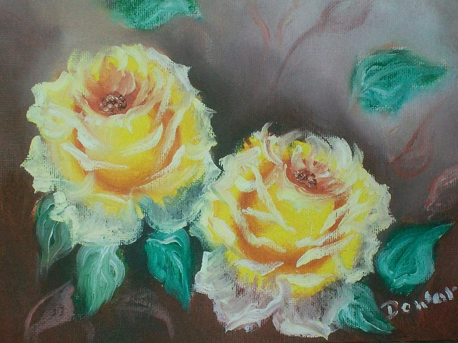 Yellow Roses Painting - Yellow Roses by Raymond Doward