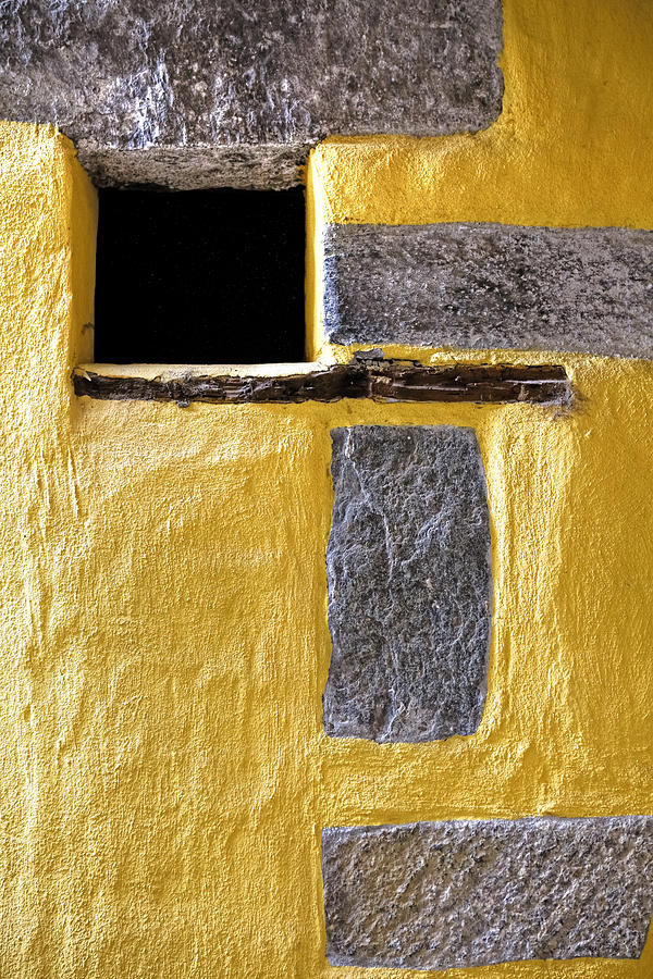Yellow Photograph - Yellow Stone Wall by Joana Kruse