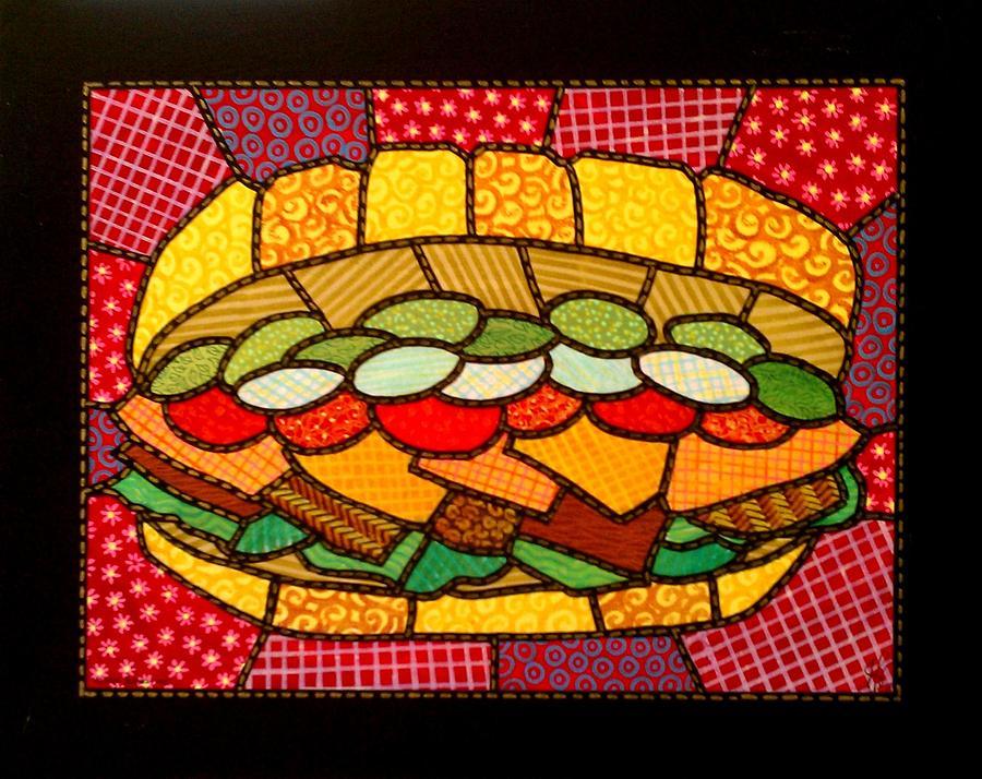 Sandwich Painting - Yellow Submarine by Jim Harris