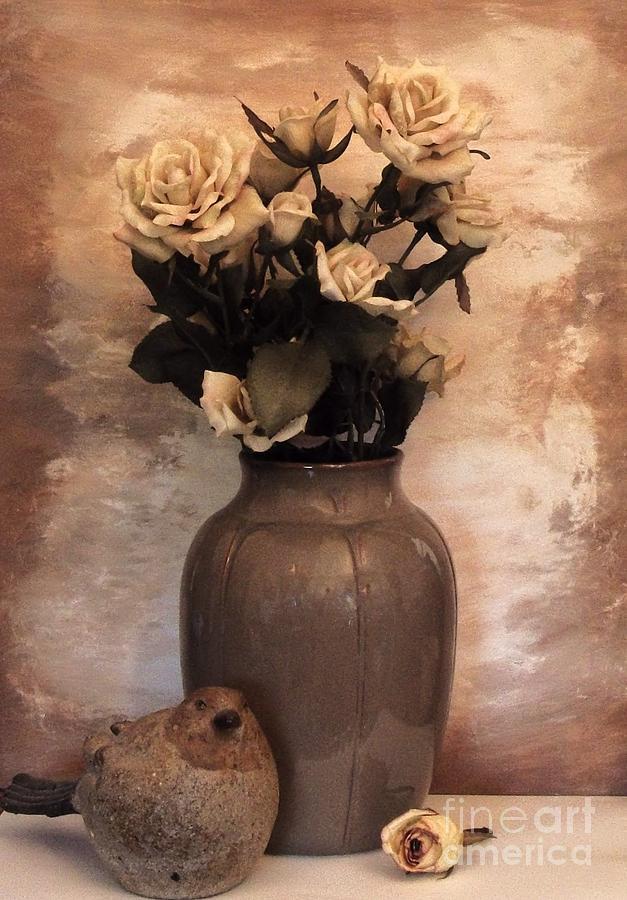 Photo Photograph - Yellow Tinted Roses by Marsha Heiken